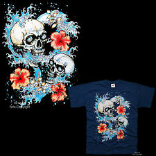 Tatuaje Tablista Calavera Tiki Rockabilly Surf Surf Camiseta T-Shirt 3134 ny