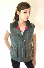 New Tweed Waistcoat Pink Ladies Country Fashion Fitted Quilted Gilet