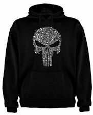 FELPA T-SHIRT THE PUNISHER PUNITORE FUMETTI TESCHIO SKULL TSHIRT SIL CCp005