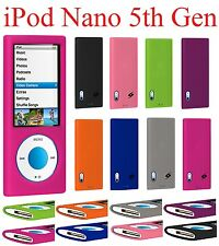 AMZER Silicone Skin Jelly Back Gel Cover + extra Case For iPod Nano 5th Gen