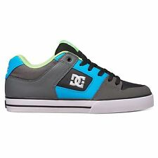 DC Shoes Pure 300660 Grey Blue Mens Skateboard Trainers