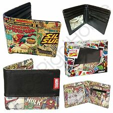 CHARACTER WALLETS MARVEL COMICS RETRO COMIC STRIP SUPERHEROES KIDS BOYS