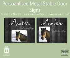 Horse Pony Stable Stall Personalised Aluminium Door Sign Name Plate Plaques