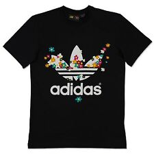 ADIDAS ORIGINALS ADICOLOR DOODLE FLOWER TREFOIL TEE PHARRELL WILLIAMS T-SHIRT