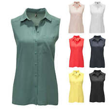 Only Camicetta da donna Camicia Blusa Senza Maniche Shirt Top Color Mix NUOVO