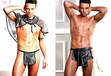 SPECTACULAR HOT MENS GLADIATOR STAG DO FANCY DRESS COSTUME OUTFIT