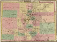 Photo Reprint Antique American Cities Towns States Map Colorado