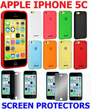 AMZER Pudding Matte TPU Soft Skin Case Cover Screen Protector For iPhone 5C 5 C
