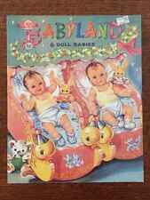 Babyland Paper Doll Book, Louise Rumely, 1997, 6 Pages Of Clothes
