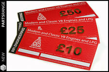 Land Rover V8 RPi Christmas Gift Voucher Engine Kit Car Present £10 £25 £50