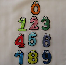 Iron On Applique Patch Numbers with eyes