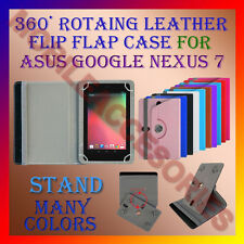 """ACM-ROTATING 360° LEATHER FLIP STAND COVER 7"""" CASE for ASUS GOOGLE NEXUS 7 TAB"""