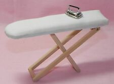 Dollhouse Miniature Iron and Ironing Board Laundry Minis 1:12 Scale