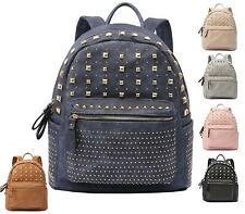 Womens Rucksack School Travel Festival Gold Studs Backpack Shoulder Bag