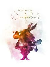 ART PRINT Alice in Wonderland Quote illustration, Welcome to Wonderland Wall Art