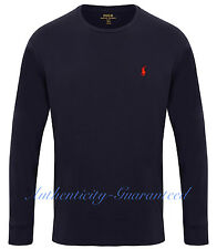Ralph Lauren Mens Classic Fit Long Sleeve T-Shirt White Navy S-XXL RRP £50