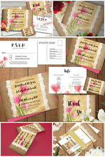 Personalised Rustic Hessian/Burlap & Lace Wedding Suite Matching Wedding Set