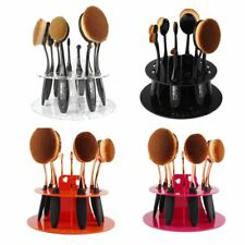 New 10pcs Toothbrush Oval Make up Brushes Set Stand Dryer Organizer Holder Shelf