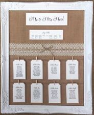 Vintage/Shabby Chic Rustic Lace Table Seating Plan With or Without Frame
