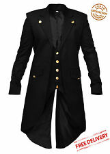 New Wedding Party Mens Steampunk Tailcoat Jacket Gothic Victorian Coat UK Stock