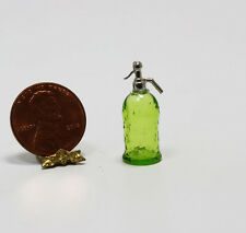 Miniature Artisan Green Glass Soda Syphon by Philip Grenyer