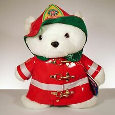 1996 Dayton Hudson Firefighter Plush Teddy Santa Bear 18