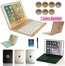 Folio 7 Color Backlit Bluetooth Keyboard Case Smart Cover For iPad Air 2/Pro 9.7