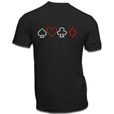 Mens New Poker Cards Back print short sleeve Black t-shirt/tee/Top