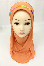 Ramadan Muslim Girls Hijab Cap Scarf Islamic Children Shawls Head Scarf Headwear