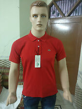 Branded Solid Men's Polo Coton T-shirt @ Lowest Price (Red)