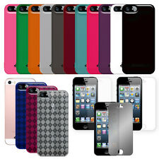 AMZER Soft Gel TPU Skin Fit Case Luxe Argyle Screen Protector For iPhone SE 5 5S