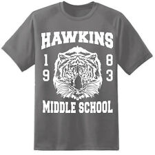Mens Stranger Things Hawkins Middle School T Shirt Eleven The Upside Down Lab