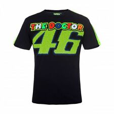 VR46 Official Valentino Rossi The Doctor 46 Motorcycle Motorbike T-shirt - Black