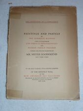 MR MEYER GOODFRIEND Art Collection, AMERICAN ART GALLERIES, NY, 1923 Catalog