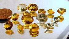 CITRINE- (14) small faceted different sizes,shapes  25.6 ct-  lot G