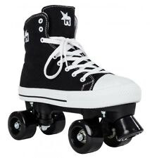 ROOKIE tela Junior/ADULTI MISURA roller quad pattini - Nero