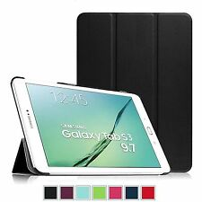 Thin Smart Folio Leather Case Cover For Samsung Galaxy Tab S3 2017 T820 / T825