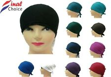Women Ladies Girls Teens Under Scarf Hijab Tube Plain Bonnet / Stretchy Cap Σ