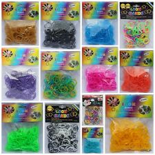 Rainbow Loom LOOM BANDS BANDZ Silicone Rubber Bands CHOOSE Metallic Neon Mixed