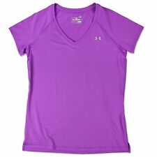 UNDER ARMOUR HEATGEAR DAMEN TRAININGS SHIRT SPORT V-AUSSCHNITT LILA 1269102--913