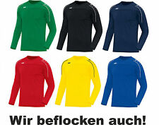 JAKO Classico Herren / Kinder Sweat Sweatshirt Trainingssweat mit Flock optional