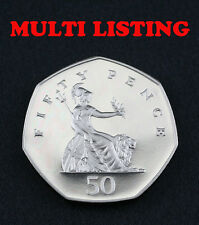 Britannia 50p Fifty Pence Coins 1969-2008 PROOF, UNC & CIRC Coin Hunt - Select