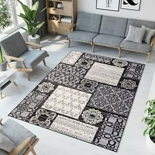 New Beautiful Rugs For Living Room - Different Sizes - Black - Nuance Pattern