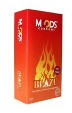 Moods Blaze Condom; Pack of 12 x 2 = 24 Condoms; Concealed Shipping