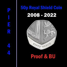 Royal Shield 50p Fifty Pence Coins 2008-2017 PROOF & BU/BUNC ONLY - Coin Hunt