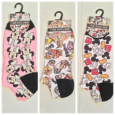 NEW OFFICIAL DISNEY SHOE LINERS MINNIE MOUSE, MICKEY MOUSE OR SEVEN DWARFS–4-8