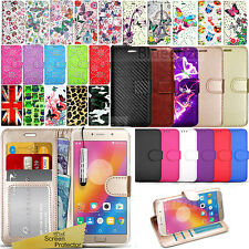 For Lenovo P2 Phone Case Wallet Cover Leather Flip Stand Book + Screen Protector