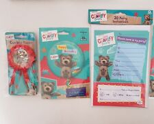 Little CHARLEY BEAR Party Birthday Party Balloon Invites badge