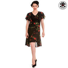 HELL BUNNY Lily Robe noire - Robe en De 1950 Ans Style Pin up NEUF