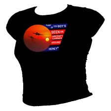 Top Gun film – Aircraft Carrier Quote TOM CRUISE 80's classic ladies T-shirt